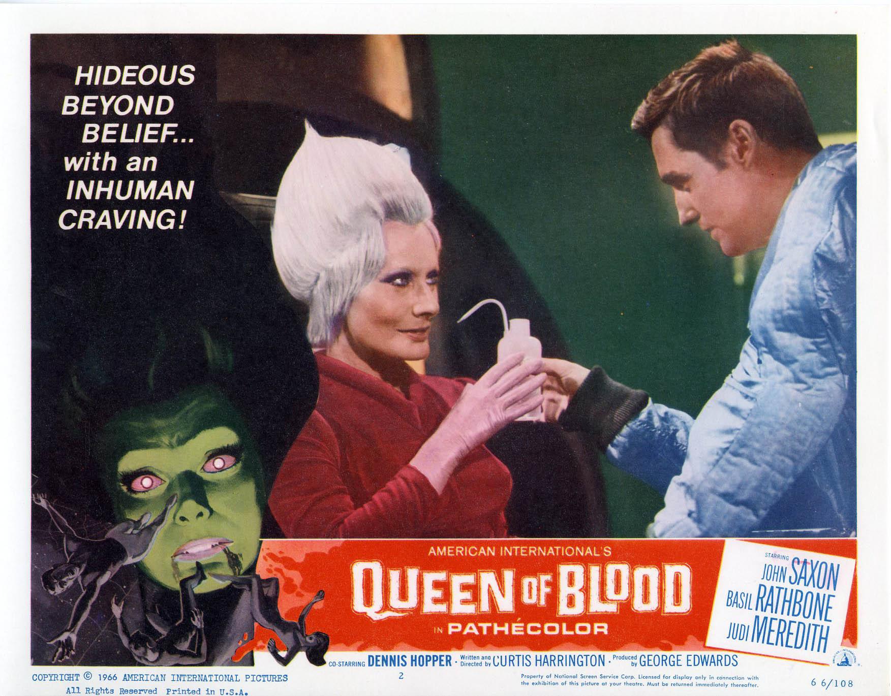 Queen of blood John Saxon Horror movie poster print #2