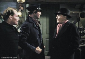 """Brilliant Disguise, Holmes."" ""I didn't expect it to fool you, Professor."" ""Thank you."""