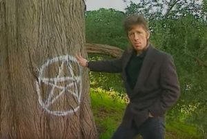 """Yes, only Satanists can use chalk like this."""
